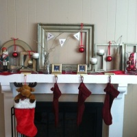 DIY Pinterest Inspired Mantle