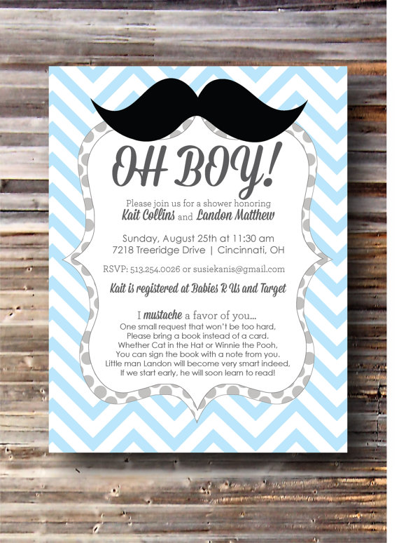 ... Mustache Themed Baby Shower Pinboard And Got To Work. Kait 3