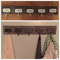 Reclaimed Barn Wood Coat Hooks