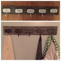 Reclaimed Barn Wood Coat Hooks