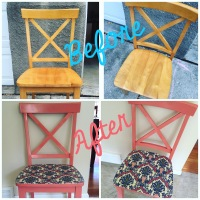 Coral Modge Podge Chair