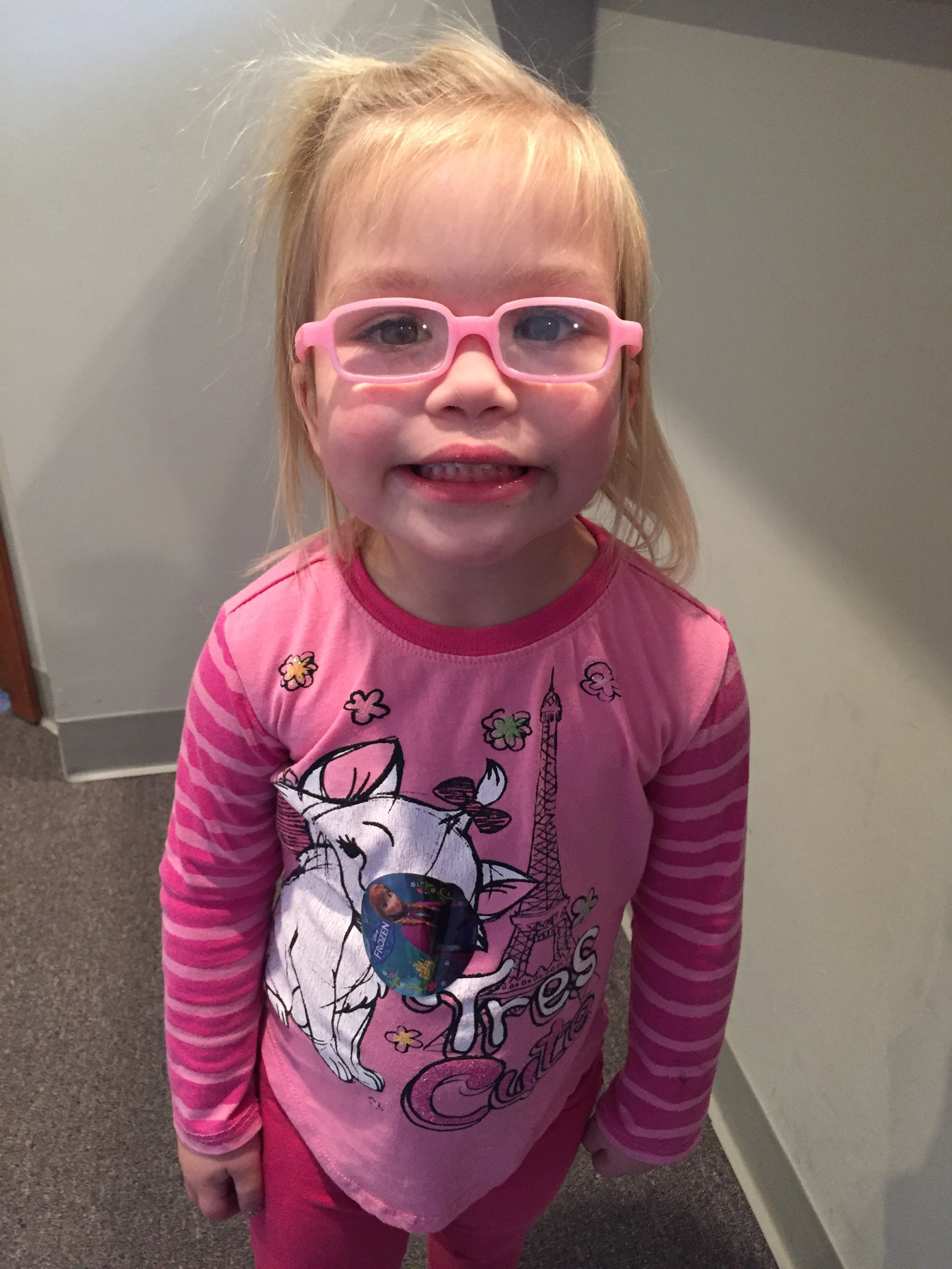 721a88c846c Yesterday O had a check up with her Ophthalmologist to assess how she is  progressing with her newest prescription (updated in September to R+4.50  and L ...
