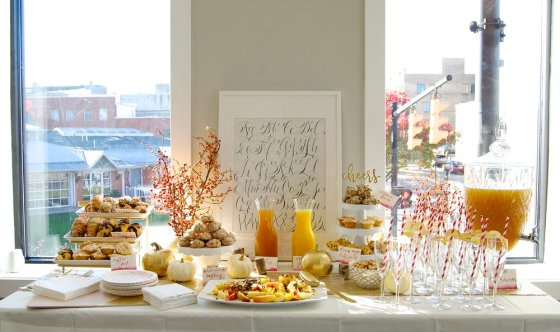 Mimosa bar at calligraphy workshop